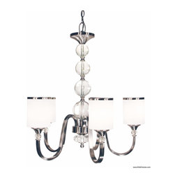 Z-Lite - Z-Lite 308-5-BN Chandelier - Brushed Nickel - The contemporary Cosmopolitan family adds a touch of quiet sophistication to your decor.