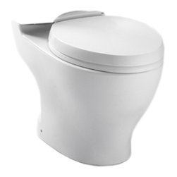 Toto - Toto CT412F#01 Cotton White Aquia Dual Flush Toilet Bowl Only, 1.6GPF and 0.9GPF - The rectangular build and modern styling of the Aquia series will bring a contemporary feel and beautiful look to any bath.
