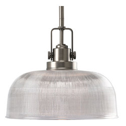 Progress Lighting - Progress Lighting P5026-81 1-Light Pendant with Clear Prismatic Glass Shade - Progress Lighting P5026-81 1-Light Pendant with Clear Prismatic Glass Shade