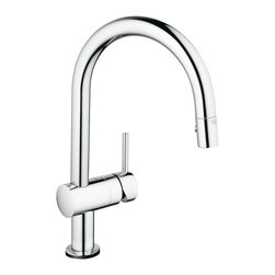 GROHE Minta® Touch Pull-Down kitchen faucet - Dirty hands don't mean kitchen fittings should be too. One touch with the back of your hand or wrist is all it takes to turn the faucet ON and OFF. The GROHE Minta® Touch stays clean, hygienic and radiant in StarLight® Chrome or elegant in SuperSteel InfinityFinish.