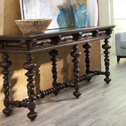 """Ambella Home Collection - Ambella Home Collection - Modesto Console Table - 06717-850-001 - �For any questions please call 800-970-5889.Ambella Home Collection - Modesto Console Table - 06717-850-001  Features:Modesto�Collection�Console TableSome Assembly Required��  Dimensions:�W84"""" x D24"""" x H36"""""""