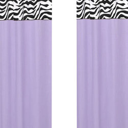 Sweet Jojo Designs - Purple Zebra Window Panels (Set of 2) - The Purple Zebra window curtain panel set (2 panels) will help complete the look of your Sweet Jojo Designs room. These window treatments instantly change the look and feel of any room, adding layers of warmth and style. Each of the 2 panels measures 42in. x 54in.