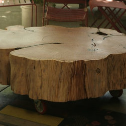 Holmes Wilson Show at The Gardener in Berkeley and Healdsburg - This elegant rustic cypress coffee table by Brad Wilson recently sold at a Holmes Wilson Show at The Gardener in Berkeley. The show is up until July 5th.