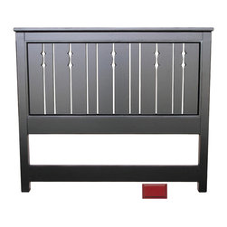Cottage Home Collection - Cottage Queen Headboard, Red - Complete the regal look of your bed by incorporating this wonderful cottage queen headboard to it. This cottage house furniture piece comes with multiple finish option to match with your decor at best.