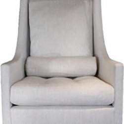 Courtney Rocker - Comfort and style – this upholstered rocker avoids being clunky yet is plenty cushy.