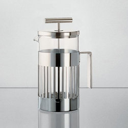 Alessi Coffee and Tea - Alessi Coffee and Tea 9094 Coffee Press - Press filter coffee maker or infuser with heat resistant glass. Manufactured by Alessi.Designed in 1986.