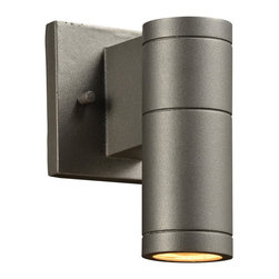 PLC Lighting - PLC 1 Light Outdoor Wall Fixture Troll-I Collection 8022 BZ - -Finish: Bronze