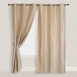 Champagne Dupioni Grommet Top Curtain -