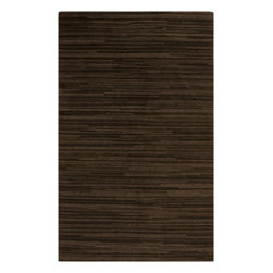 Surya - Gradience Collection Stripe Pattern Rug in Chocolate and Mocha (2' x 3&#039 - This wonderful rug brought together the best combination of chocolate and coffee shades. It is knotted by hand from high quality 100% wool. This rug will make your interior elegant and refined, fill your room with an atmosphere of comfort and refinement.    Features: