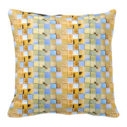 Tomova Jai Designs - Cali Collection-Toasted CaliMex Decorative Pillow, Light - This eccentric eye catcher is a client favorite and part of our new Cali Collection.
