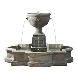 Campania International - Navonna Fountain - Self-contained fountain that only requires access to electricity and a level surface to install.