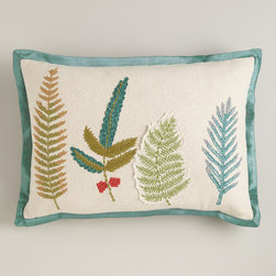 Botanist's Leaves Lumbar Pillow - How cool is this? I love botanicals in any circumstance.