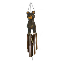 CohassetImports - Barry Bear Wind Chime - Barry the bear wind chime. Not too ferocious and not too cute. The bear is a perfect gift for country lovers everywhere.