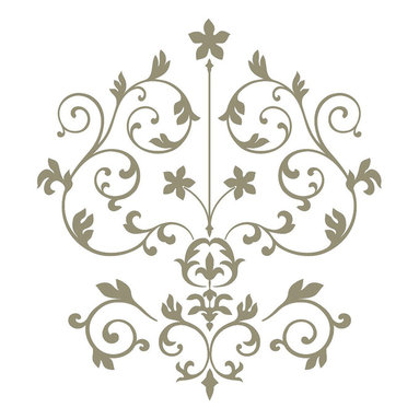 """WallPops - Nouveau Damask Wall Art Decal Kit - Damasks are elegant designs reminiscent of French and Italian Renaissance style. The WallPops Nouveau Damask wall art kit is a modern damask with a silver metallic finish. Bring a sophisticated detail to your walls with this beautiful wall decal kit. Nouveau Damask Kits are printed on two 17 1/4"""" x 39"""" sheets, and contains 14 pieces. Nouveau Damask Kits are repositionable and totally removable."""
