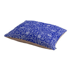 Aimee St Hill Amirah Blue Dog Bed - Perfect for dogs, cats,heck, even a pig! With our cozy pet bed made of a fleece top and waterproof duck bottom, you're bound to have one happy animal catching some zzzz's in ultimate comfort.