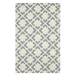 nuLOOM - Contemporary 5' x 8' Grey Hand Tufted Area Rug Trellis VS75 - Made from the finest materials in the world and with the uttermost care, our rugs are a great addition to your home.
