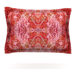 """Kess InHouse - Nikposium """"Chili"""" Pink Red Pillow Sham (Cotton, 30"""" x 20"""") - Pairing your already chic duvet cover with playful pillow shams is the perfect way to tie your bedroom together. There are endless possibilities to feed your artistic palette with these imaginative pillow shams. It will looks so elegant you won't want ruin the masterpiece you have created when you go to bed. Not only are these pillow shams nice to look at they are also made from a high quality cotton blend. They are so soft that they will elevate your sleep up to level that is beyond Cloud 9. We always print our goods with the highest quality printing process in order to maintain the integrity of the art that you are adeptly displaying. This means that you won't have to worry about your art fading or your sham loosing it's freshness."""
