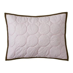 Bacati - Quilted Circles Boudoir in Pink and Chocolate - Features: -Boudoir. -Quilted with chocolate trim. -Cotton shell with polyester fill. -Includes removable poly-filled filler. -Pink / chocolate color. -Machine washable. -Contemporary style. -Part of Quilted Circles Collection.