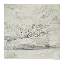 Elijah Casting Off His Mantle (Graphite Wash) -