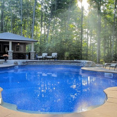 contemporary swimming pools and spas by Majestic Pools and Spas