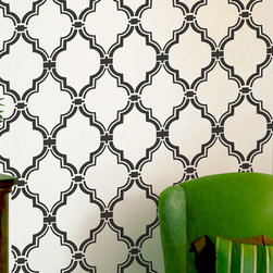 Wall Stencil, Moroccan Allower Pattern by OMG Stencils - Create an exotic look with a Moroccan wall stencil. And you can choose your own colors — the ultimate in custom wall decor.