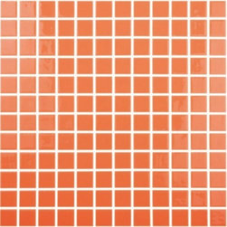 """Crayola - Recycled Glass Mosaics Orange Glossy 12.25"""" x 12.25"""" - The new  Recycled Collection consists of 36 solid colors in two finishes and nine special blends. Approved for both floor and wall use in commercial as well as residential applications, finished products from this new series (which contain 99% recycled glass) result in being SCS-certified, making them ideal for any LEED project."""