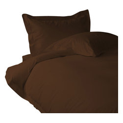 """500 TC Sheet Set 26"""" Deep Pocket with 4 Pillowcases Chocolate, Twin - You are buying 1 Flat Sheet (66 x 96 inches), 1 Fitted Sheet (39 x 80 inches) and 4 Standard Size Pillowcases (20 x 30 inches) only."""