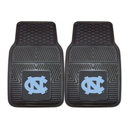 Fanmats - Fanmats UNC North Carolina 2-piece Vinyl Car Mats - Protect the floor of your car with these durable vinyl car mats. These mats feature the North Carolina Tar Heels team logo, making them a perfect gift for your university student or another fan. The set includes a driver and a passenger mat.