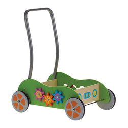 The Original Toy Company - The Original Toy Company Kids Children Play Original Activity Walker - Ideal for making those first steps, our walker is made of sturdy construction with steel axels and rubber coated wheels. The walker is also equipped with additional activities such as gear movement, wooden peg movement. Only Requires handle assembly and off you go.