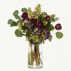 traditional plants Hydrangea & Thistle Bouquet