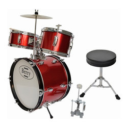 Berry Toys - Berry Toys Kids Large Drum Set - Red Multicolor - MKMU-3KL-RD - Shop for Toy Instruments from Hayneedle.com! From legendary jazz drummers Gene Krupa and Buddy to more contemporary classic rockers like Peter Chris and Rick Allen your child can follow in the footsteps of greatness with the Berry Toys Kids Large Drum Set - Red. This starter drum set gets kids involved in music education early when their spongelike learning potential is at its peak. Children who take up instruments early are shown to develop not just musical aptitude quickly but an ability to focus on and absorb other disciplines as well. This drum set allows kids to explore sound through a natural percussive inclination which hammers home cause-and-effect relationships. This complete drum kit comes with absolutely everything your child needs to play right away including sticks throne and drum key.Drum MeasurementsBase drum: 16-in. diam.Tom: 10-in. diam.Tom: 8-in. diam.Cymbal: 10-in. diam.Base drum pedal: 10L x 10H in.Throne: 9 diam. x 14H in.; seat: 2 in. thickAbout Berry ToysBased in Chino Hills California Berry Toys is a leading manufacturer of children's toys. Berry Toys aims to educate children through play and their toy selection includes play kitchens play foods musical instruments play tools and more. If you want affordable pricing quality customer service and educational toys that are manufactured according to the highest standards Berry Toys can deliver.