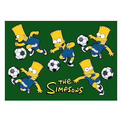 """Fun Rugs - Kids Simpsons-MP 3'3""""x4'10"""" Rectangle Multi Area Rug - The Simpsons-MP area rug Collection offers an affordable assortment of Kids stylings. Simpsons-MP features a blend of natural Multi color. Machine Made of 100% Nylon the Simpsons-MP Collection is an intriguing compliment to any decor."""