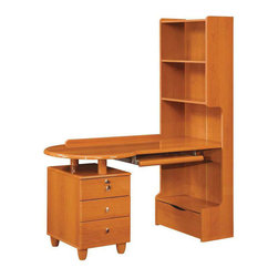 Global Furniture - Emily/Evelyn Kids Study Desk in Cherry Finish - Emily/Evelyn Kids Study Desk in Cherry Finish