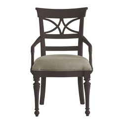 Stanley Furniture - Coastal Living Retreat-Sea Watch Arm Chair - A filigree back combined with chamfered legs provides good reason to sit a little longer. Gently bowed arms are comfortable, yet narrow enough to cup in your palm.