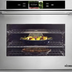 "Dacor - DYOV130B Discovery iQ 30"" Electric Single Wall Oven with 4.8 cu. ft. Convection - With another industry first Dacors Discovery iQ Wall Oven blends technology and performance to deliver a unique cooking experience The integrated and intuitive Android interface provides home chefs with access to the proprietary Dacor iQ Cooking App ..."