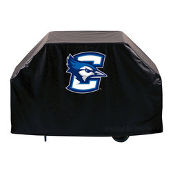 "Holland Bar Stool - Holland Bar Stool GC-Crghtn Creighton Grill Cover - GC-Crghtn Creighton Grill Cover belongs to College Collection by Holland Bar Stool This Creighton grill cover by HBS is hand-made in the USA; using the finest commercial grade vinyl and utilizing a step-by-step screen print process to give you the most detailed logo possible. UV resistant inks are used to ensure exeptional durablilty to direct sun exposure. This product is Officially Licensed, so you can show your pride while protecting your grill from the elements of nature. Keep your grill protected and support your team with the help of Covers by HBS!"" Grill Cover (1)"