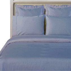 "Bed Linens - 100% Bamboo Duvet cover Set  "" Silky Super Soft Covers"" Full-Queen Light-Blue - Wrap your self in the softness of the luxurious 100% silky bamboo duvet covers like those found in royalty homes. You won't be able to go back to cotton covers after trying these 100% bamboo. Amazingly soft similar to cashmere of silk. 60% more absorbent than cotton. Sustainable, fast growth rate over 1 meter per day. Requires significantly less pesticides than cotton and is naturally irrigated. Natural anti-bacterial and deodorizing properties."