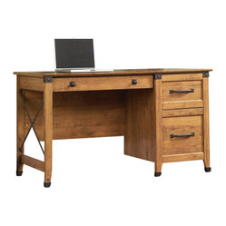 Sauder - Sauder Registry Row Desk in Amber Pine - Sauder - Home Office Desks - 412267 -
