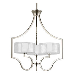 Progress Lighting - Progress Lighting P4644-104WB Caress 3 Light Chandelier In Polished Nickel - Progress Lighting P4644-104WB Caress 3 Light Chandelier In Polished Nickel