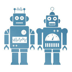 Robots Wall Sticker, Blue