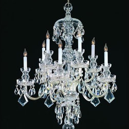 Crystorama Lighting Group - Traditional Crystal Swarovski Strass Crystal Polished Chrome Five-Light Chandeli - Traditional crystal chandeliers are classic timeless and elegant. Crystorama's opulent glass arm chandeliers are nothing short of spectacular. This collection is offered in a variety of crystal grades to fit any budget. For a touch of class order this collection in Gold for traditionalists or in Chrome to match your contemporary or transitional decor.  -Primary Material: Steel  -Crystal: Swarovski Strass  -Chain or Rod Length: 36inches  -Wire Length: 72inches Crystorama Lighting Group - 1140-CH-CL-S