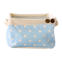Darling Mini - The Small Canvas Basket - this darling little storage basket is great for holding those little knick knacks lying around. made from water resistant canvas material that is easily collapsible for storage when not in use.