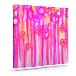 """Kess InHouse - Ebi Emporium """"Spring Sensations"""" Pink Magenta Wrapped Art Canvas (12"""" x 10"""") - Bring your outdoor patio to life with this artistic outdoor canvas wrap featuring gorgeous artwork by KESS InHouse. These canvases are not only easy to hang and remove but also are the perfect addition to your patio collection. These canvases are stretched around a wooden frame and are built to withstand the elements and still look artistically fabulous. Decorating your patio and walls with these prints will add the splash of art and color that is needed to bring your patio collection together! With so many size options and artwork to choose from, there is no way to go wrong with these KESS Canvas Wraps!"""