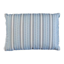 Used Striped Pillow in Michael S. Smith Fabric - This striped throw pillow is done in a nice Michael S. Smith Fabric.  Perfect for accenting a bed or chair.