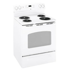 "GE - GE 30"" Free Stand Electric Range - Self-clean oven."