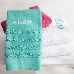 Ruffle Bath Towels - Splash as much as you want, then break out one of our superabsorbent, plush towels.