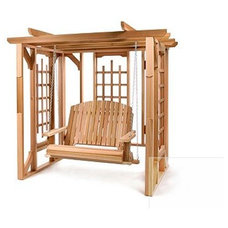traditional outdoor swingsets by garden.com
