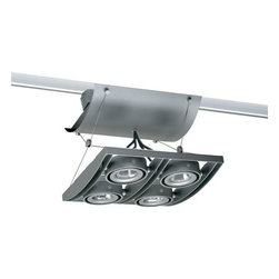 Juno Lighting - Trac-Master XT16404 Avio 4-lt Quad Low Volt MR16 Track Light - AVIO combines multi-lamp fixture functionality and aesthetics with a trac-based product that is easy to specify, cost effective to install and simple to reconfigure. AVIO's precision, die-cast frame with curved spanners creates a unique, consistent dropped visual plane of clustered lighting.