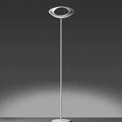 Cabildo floor, design by Eric Sole` - 2007 - Floor standing luminaire for indirect and diffused halogen lighting.