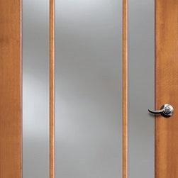 Authentic Wood Doors - Vertical Grain Douglas Fir Glass French Door 9-Lite Clear